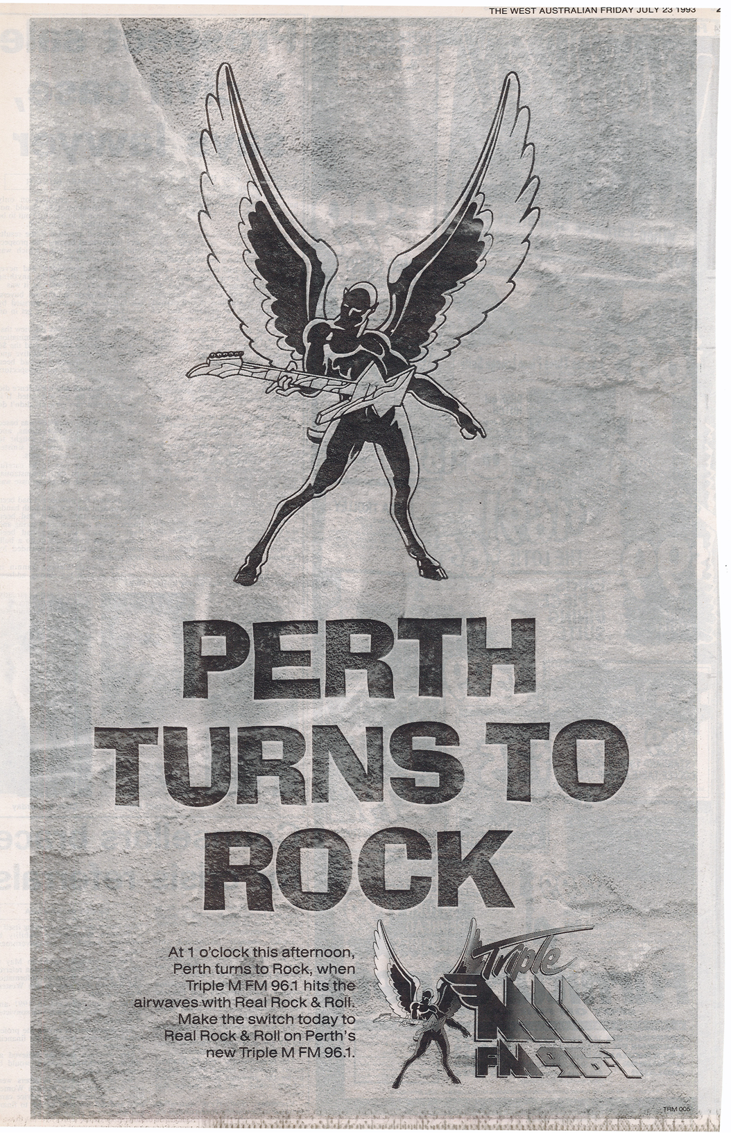 1993.07.23 - Advert - Perth Turns to Rock - Triple M - The West Australian.png