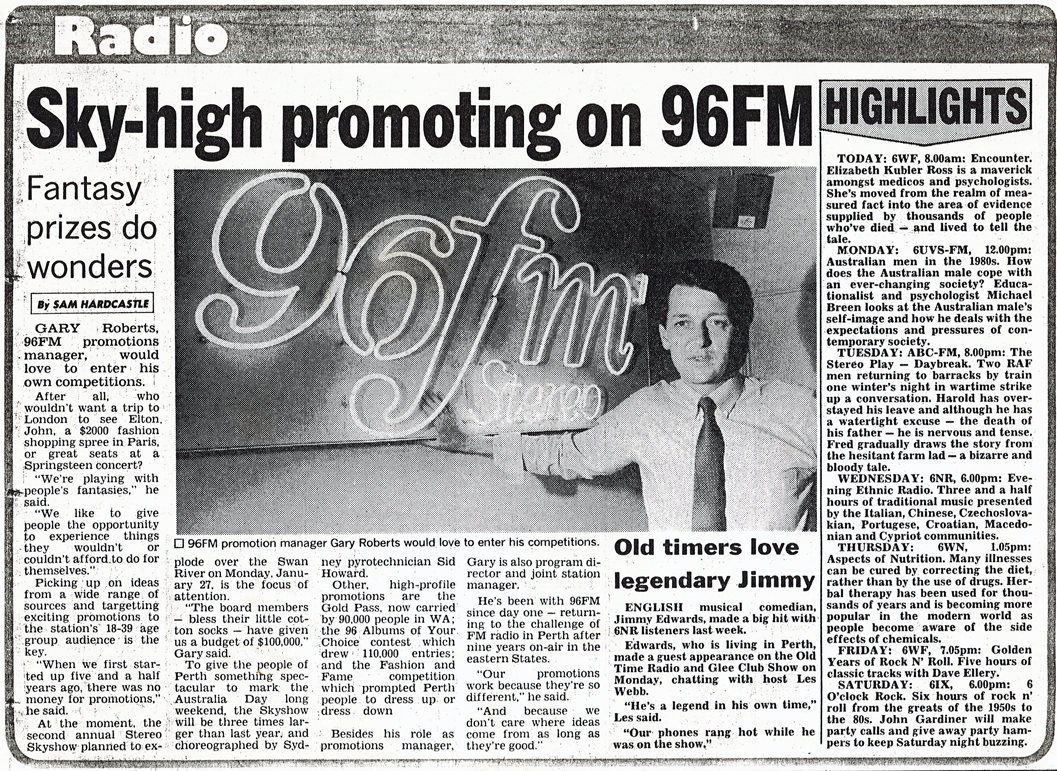 1986.01.xx - Article Sky-high promoting on 96FM- Gary Roberts.png