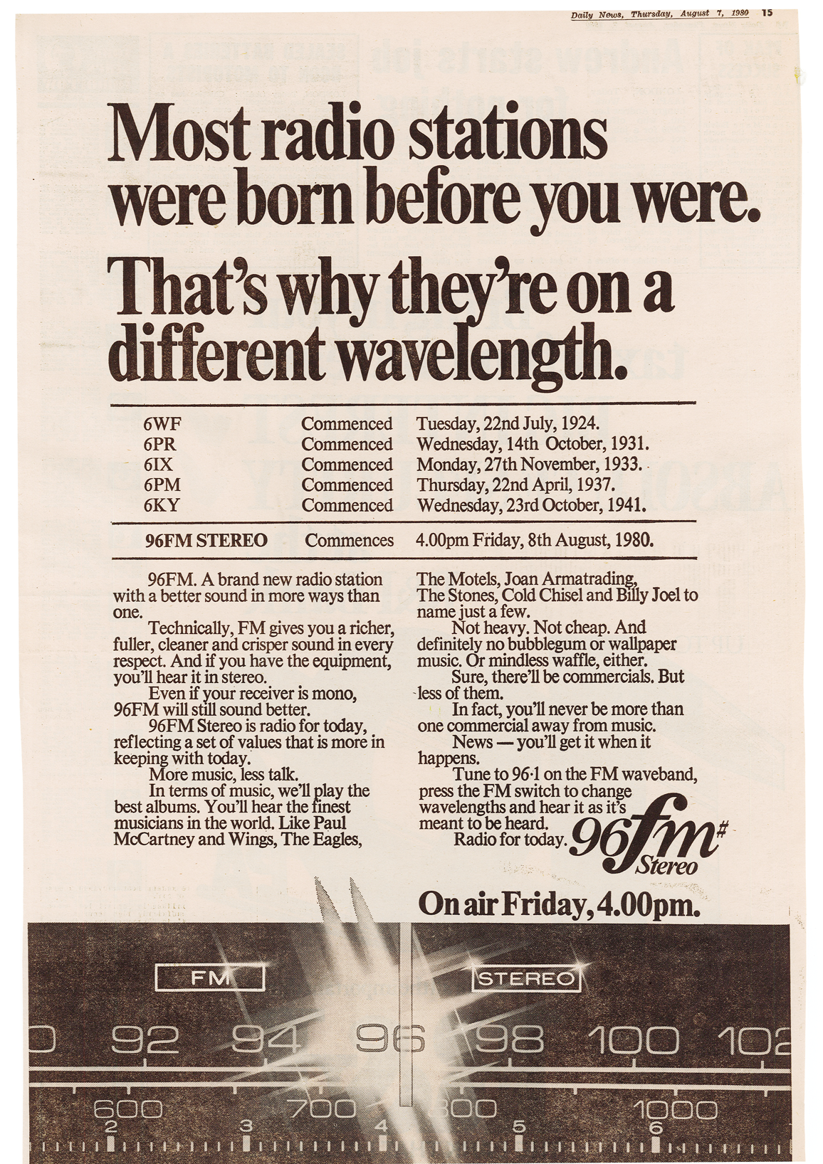 1980.08.07 - Article - Launch Ad - Daily News.png