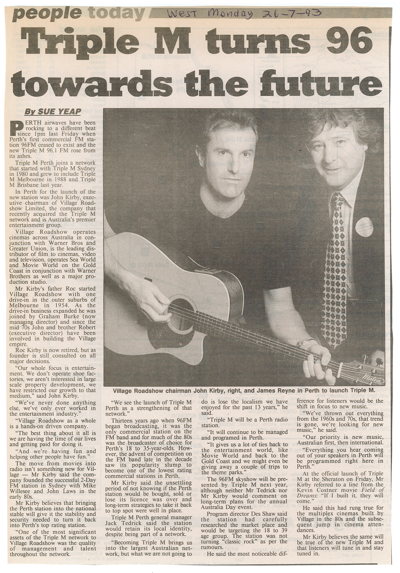 1993.07.21 - Article - Triple M turns 96 towards the future - The West Australian.png